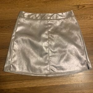 Cupcakes & Cashmere Foil Faux Suede Mini Skirt 2